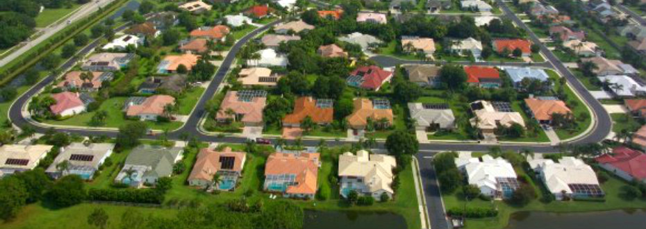 Aerial view of Three Oaks in Sarasota