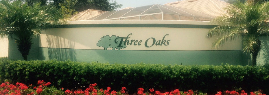 Entrance to Three Oaks